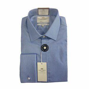 Hawes & Curtis Luxury 2-Ply Extra Slim Dress Shirt